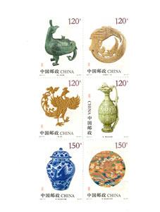【切手】2017-17 鳳(文物)(6種)